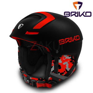 스키헬멧 브리코헬멧 1617 BRIKO FAITO MATT BLACK ORANGE FLUO