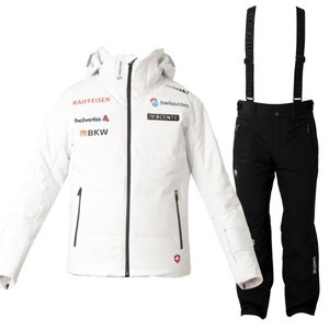 데상트 1819 스위스 팀복 스키복DESCENTE SWISS TEAM NILO SPW+PANTS BK/DWMMGK28+DWMMGD03