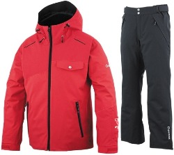 [19/20] ONYONE MEN'S OUTER  JACKET(RED) + PANTS(BLACK-M) ONJ92500